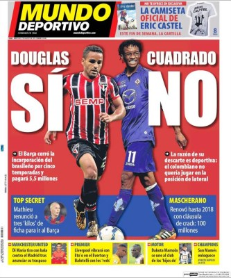 Portada Mundo Deportivo: El Barça ficha a Douglas