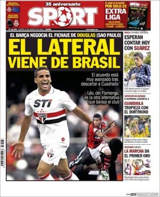 Portada Sport: Douglas