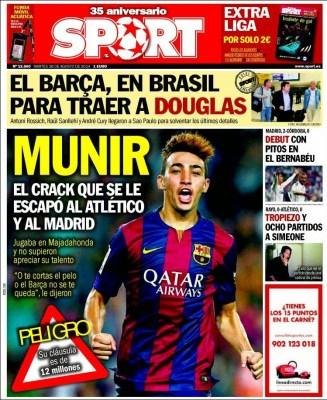 Portada Sport: Munir