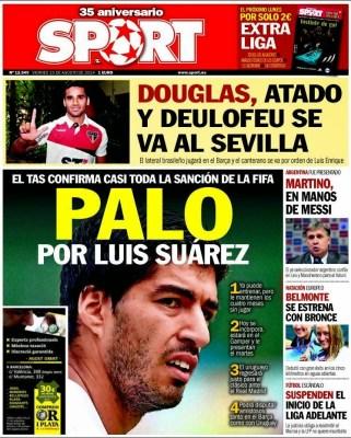 Portada Sport: Luis Suárez