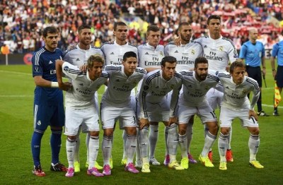 los once titulares Real Madrid Campeón Supercopa 2014