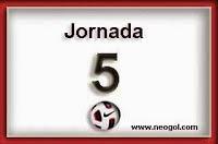 Partidos Jornada 5. Liga Española BBVA 2014