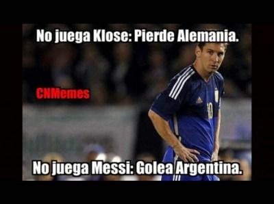 Argentina golea a Alemania: los mejores memes messi