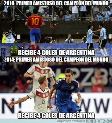 Argentina golea a Alemania: los mejores memes