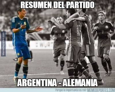 Argentina golea a Alemania: los mejores memes di maria
