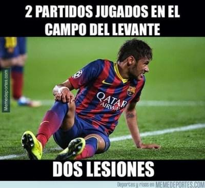 Los mejores memes de la goleada del Barcelona al Levante neymar