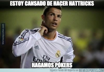 Los mejores memes de la goleada del Real Madrid al Elche ronaldo cuatro goles