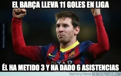 Los mejores memes de la goleada del Barcelona al Levante messi