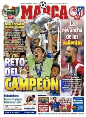 Portada Marca: Vuelve la Champions League