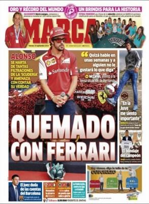 Portada Marca: Fernando Alonso