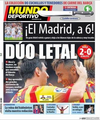 Portada Mundo Deportivo: el Barça líder y a 6 del Madrid