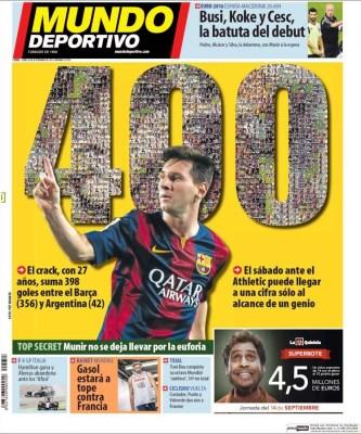 Portada Mundo Deportivo: Leo Messi