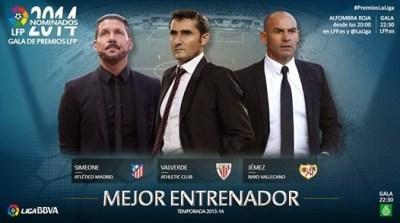 Premios LFP: Simeone, Valverde y Jémez
