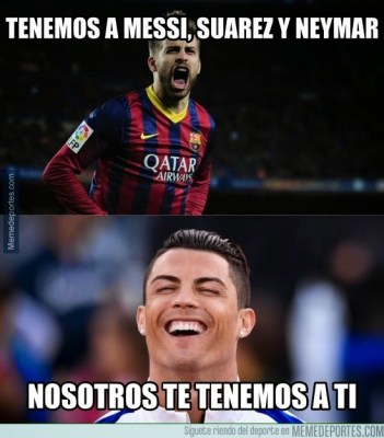Los memes de la previa Real Madrid-Barcelona: el clásico ronaldo pique