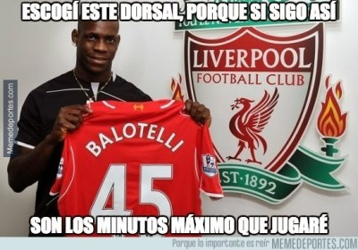 Los mejores memes del Liverpool-Real Madrid: Champions balotelli