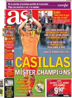 Portada AS: Iker Casillas