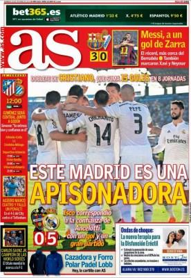 Portada AS: Real Madrid demoledor