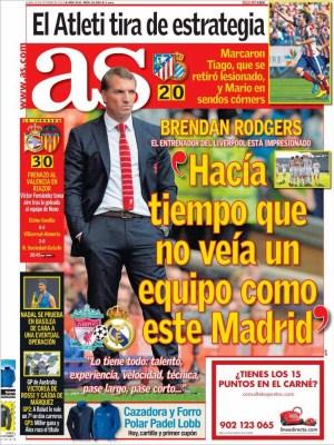 Portada AS: Liverpool vs. Real Madrid champions