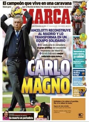 Portada Marca: Carlo Magno revoluciona al Madrid