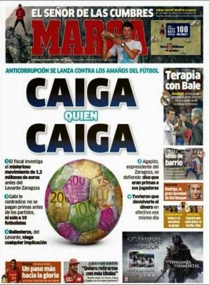 Portada Marca: corrupción en el fútbol español