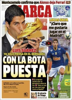 Portada Marca: Luis Suárez Bota de Oro