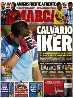 Portada Marca: el calvario de Iker Casillas