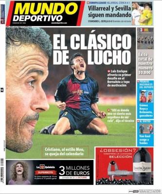 Portada Marca: se viene el clásico de Lucho real madrid barcelona