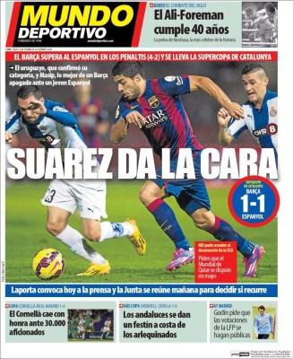 Portada Mundo Deportivo: Barça Supercampeón de Catalunya