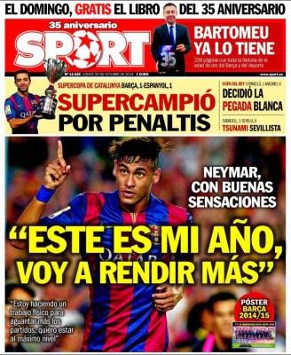 Portada AS: Barça Supercampeón de Catalunya