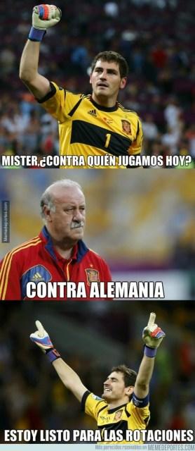 Los mejores memes de España-Alemania. Amistoso internacional casillas