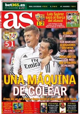 Portada AS: Real Madrid máquina del gol