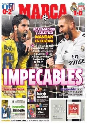 Portada Marca: impecables en champions