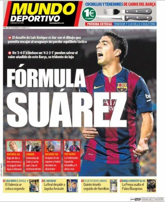 Portada Mundo Deportivo: fórmula Suárez