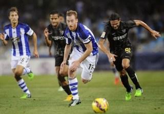 Real Sociedad 0-Málaga 1. Jornada 10 Liga Española