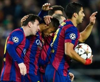 Barcelona 3-PSG 1. Champions League 2014
