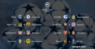 Octavos Champions League 2014-2015. Calendario