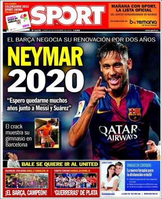 Portada Sport: Neymar 2020