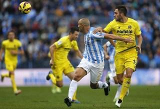 Málaga 1-Villarreal 1. Jornada 18 Liga Española