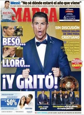 Portada Marca: Cristiano Ronaldo Balón de Oro 2014 james premio puskas