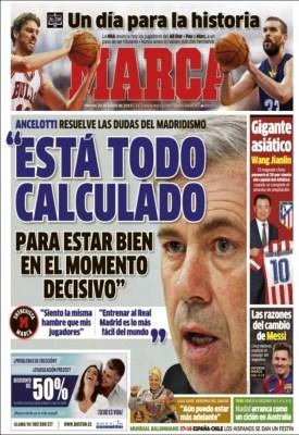 Portada Marca: Carlo Ancelotti