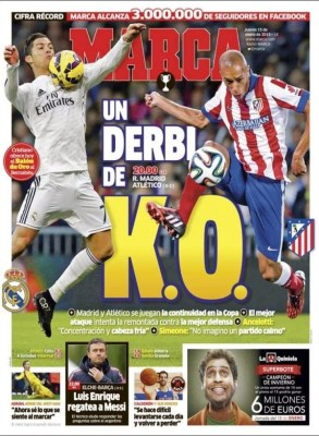 Portada Marca: derbi Real Madrid-Atlético