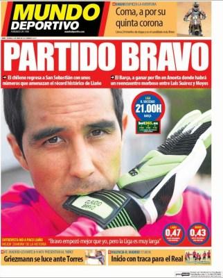 Portada Mundo Deportivo: partido Bravo