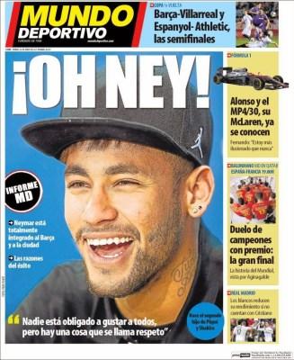 Portada Mundo Deportivo: Oh Ney