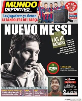 Portada Mundo Deportivo: el nuevo Messi