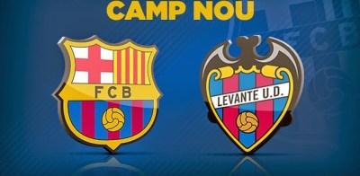 Alineación y la previa Barcelona-Levante. Jornada 23