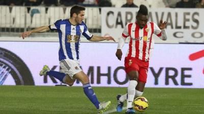Almería 2-Real Sociedad 2. Jornada 23 Liga Española