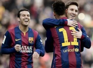 El Barça golea 5-0 al Levante con un hat-trick de Messi