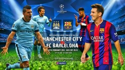Alineación Manchester City-Barcelona: Octavos Champions