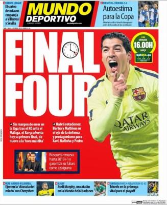 Portada Mundo Deportivo: Final Four