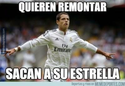 Los mejores  memes del Athletic-Real Madrid: Liga Española 2015 chicharito